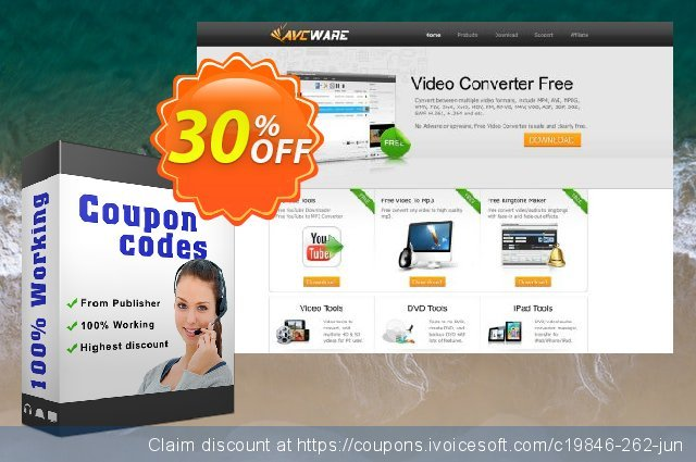 AVCWare YouTube HD Video Downloader discount 30% OFF, 2020 Halloween offering sales