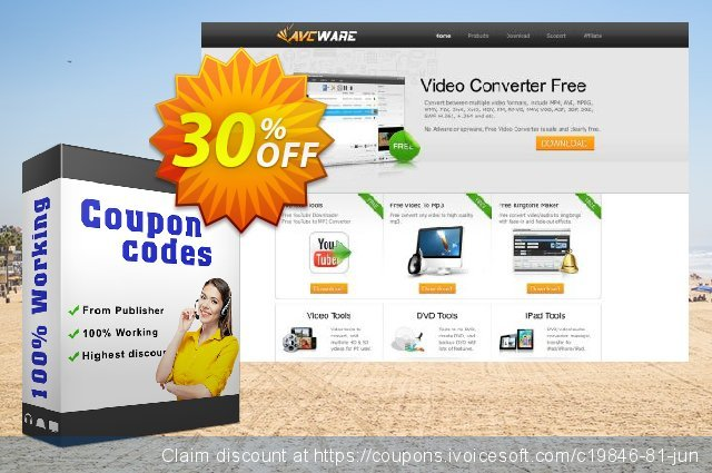 AVCWare FLV to WMV Converter 6 discount 30% OFF, 2020 New Year's Weekend offering sales