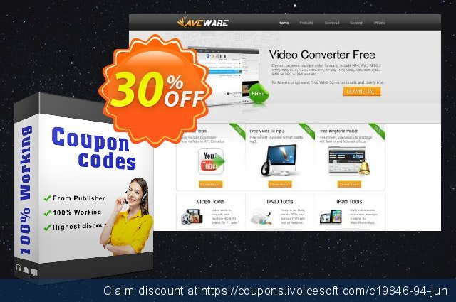 AVCWare XviD Converter 6 discount 30% OFF, 2020 University Student deals promotions