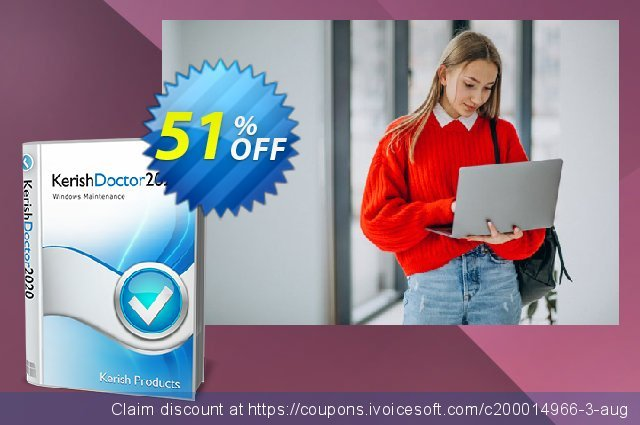 Kerish Doctor (License Key for 3 years) discount 51% OFF, 2020 Student deals offering sales
