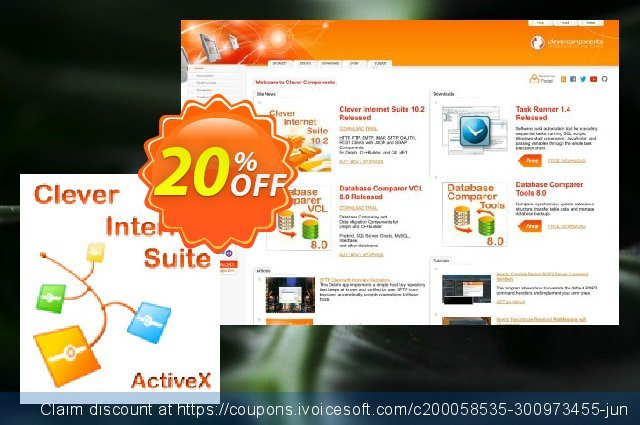 Clever Internet ActiveX Suite discount 20% OFF, 2021 New Year offering sales