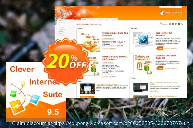 Clever Internet Suite & Database Comparer VCL discount 20% OFF, 2021 Happy New Year promotions