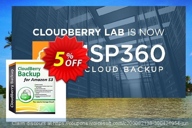 CloudBerry Backup for SBS 2011 Essentials (Windows Server 2012 Essentials) 壮丽的 产品销售 软件截图