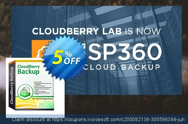 CloudBerry Backup for MS Exchange NR discount 5% OFF, 2020 Halloween promo sales