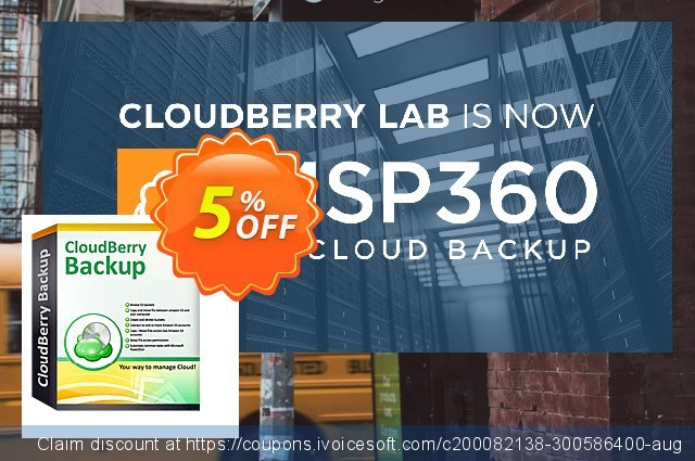 CloudBerry Backup for MS Exchange - annual maintenance discount 5% OFF, 2020 Halloween promo