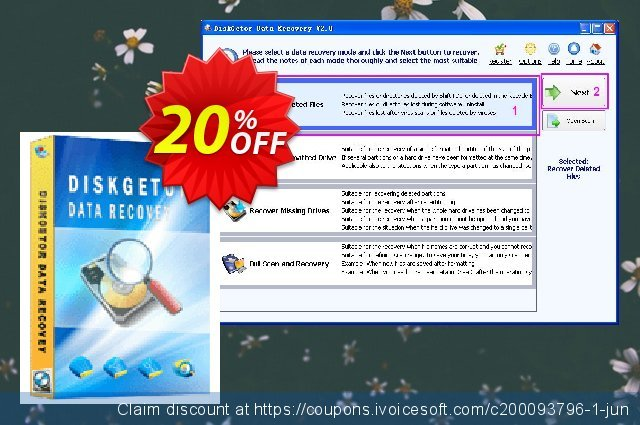 DiskGetor Data Recovery discount 20% OFF, 2020 Student deals offering sales