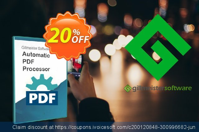 Automatic PDF Processor - 5-user license (1 year) discount 20% OFF, 2021 Halloween offering sales. Coupon code Automatic PDF Processor - 5-user license (1 year)