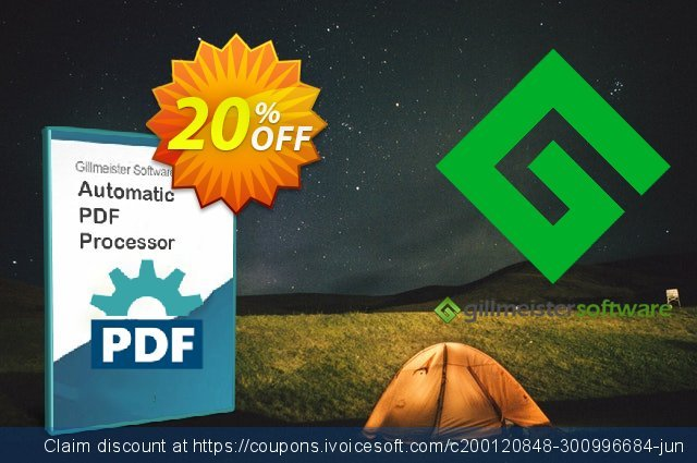Automatic PDF Processor - 25-user license (1 year) discount 20% OFF, 2021 World Teachers' Day promotions. Coupon code Automatic PDF Processor - 25-user license (1 year)