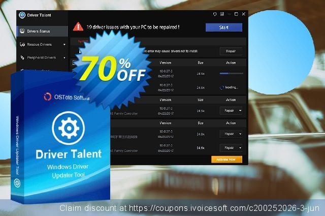 Driver Talent Pro (5 PCs / Lifetime) discount 70% OFF, 2020 Halloween offering sales
