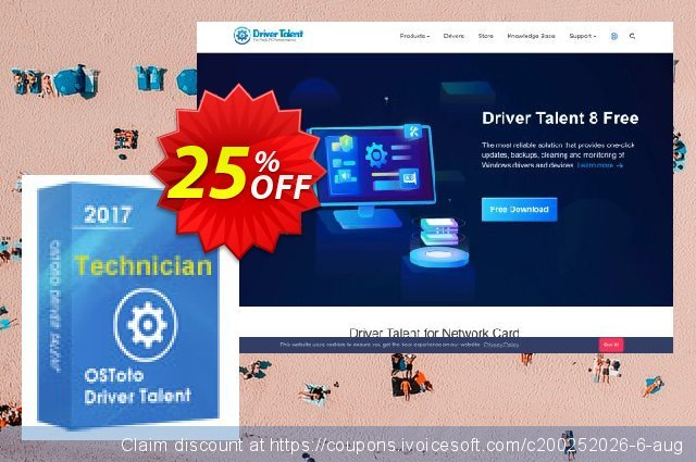 Driver Talent Technician for 200 PCs discount 25% OFF, 2020 Halloween discounts