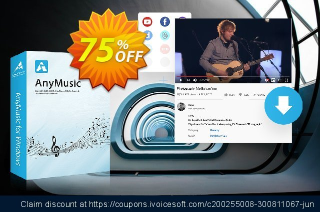 AnyMusic Lifetime (10 PCs) discount 75% OFF, 2021 Immigrants Day offering sales. Coupon code AnyMusic Win Lifetime (10 PCs)
