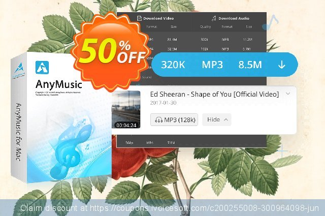 AnyMusic for Mac 6-Month Subscription 壮丽的 交易 软件截图