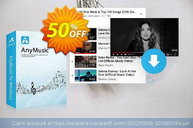 AnyMusic 6-Month Subscription discount 50% OFF, 2020 Halloween discounts