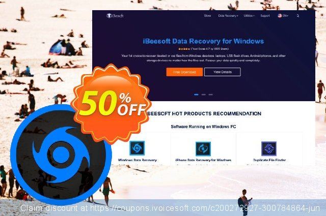 iBeesoft Data Recovery (Family license)  굉장한   프로모션  스크린 샷