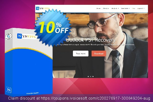 SysVita OST to PST Converter : Personal License discount 10% OFF, 2020 Black Friday offering sales