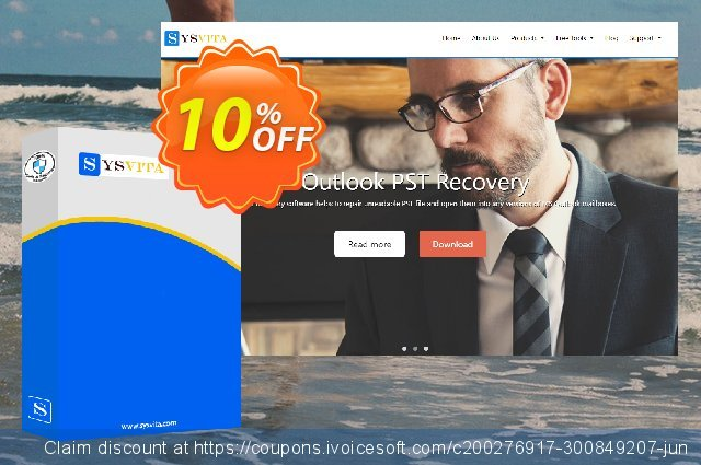 SysVita Outlook PST Recovery : Personal License  서늘해요   세일  스크린 샷
