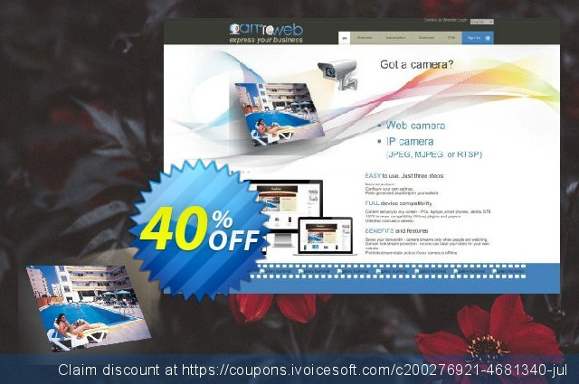 CamToWeb Subscription Start 1 month discount 40% OFF, 2020 College Student deals promo sales