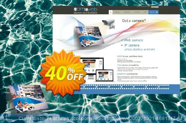 CamToWeb Subscription Basic 12 months discount 40% OFF, 2020 Thanksgiving offering sales