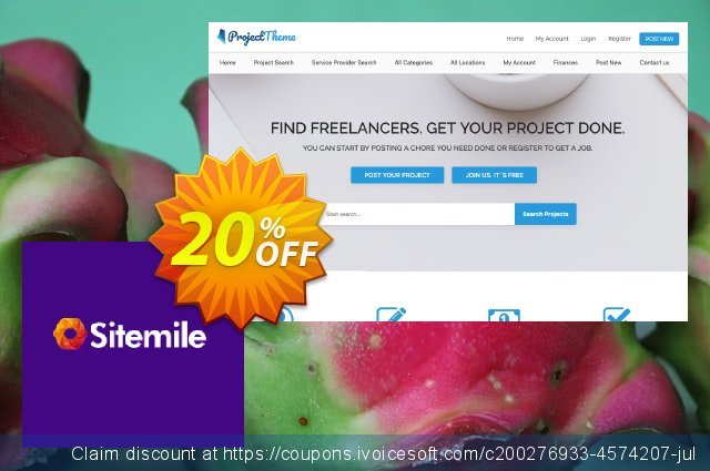 SiteMile WordPress Project Theme discount 20% OFF, 2020 Spring sales
