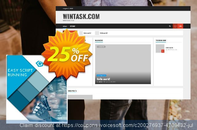 WinTask Runtime discount 25% OFF, 2020 Back to School promo offering sales
