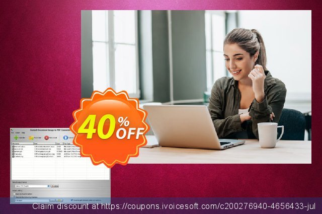 Aostsoft Document Image to PDF Converter Pro 令人惊奇的 产品销售 软件截图