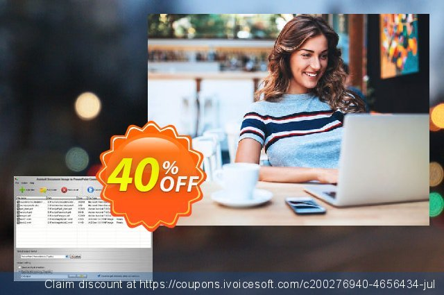 Aostsoft Document Image to PowerPoint Converter Pro discount 40% OFF, 2020 Christmas & New Year offering sales