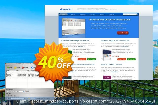 Aostsoft Image to PowerPoint Converter discount 40% OFF, 2020 Halloween offering sales