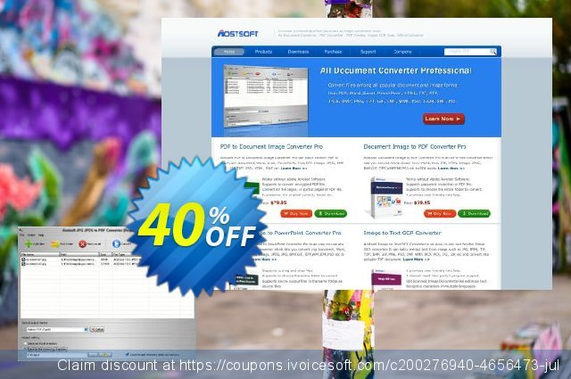 Aostsoft JPG JPEG to PDF Converter discount 40% OFF, 2021 Happy New Year discount