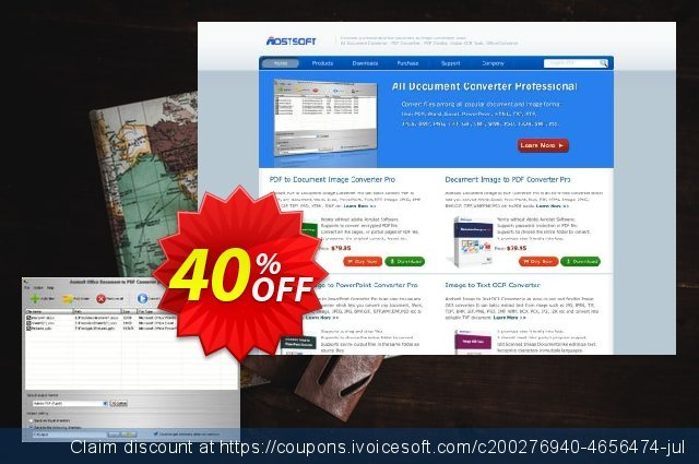 Aostsoft Office Document to PDF Converter discount 40% OFF, 2020 Thanksgiving Day offering sales