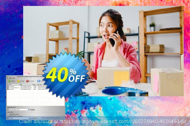 Aostsoft PDF to DOCX XLSX PPTX PPSX Converter discount 40% OFF, 2020 Halloween offering sales