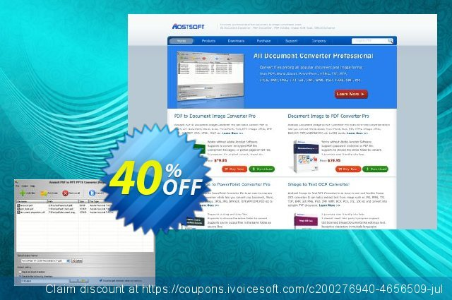 Aostsoft PDF to PPT PPTX Converter discount 40% OFF, 2021 New Year's Weekend deals