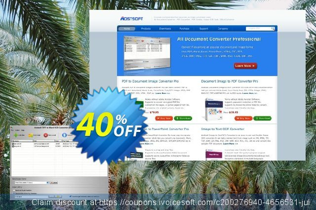 Aostsoft TIFF to Word OCR Converter discount 40% OFF, 2020 Thanksgiving Day offering sales