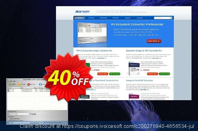 Aostsoft WMF to PDF Converter discount 30% OFF, 2019 Halloween offering sales