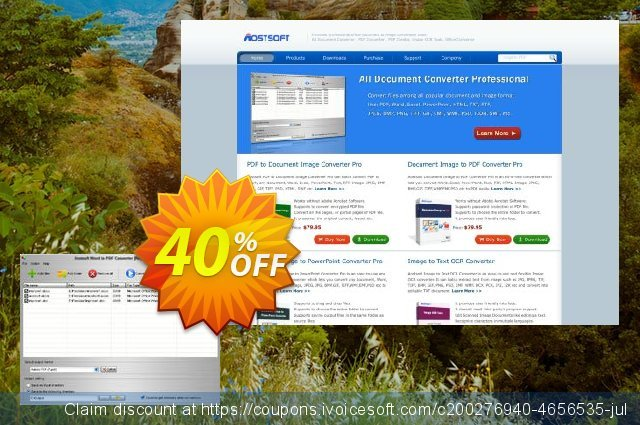 Aostsoft Word to PDF Converter discount 40% OFF, 2021 January promo