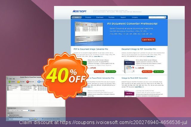 Aostsoft Word to PowerPoint Converter discount 30% OFF, 2019 Halloween promotions