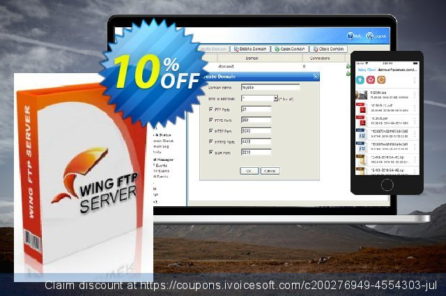 Wing FTP Server - Corporate Edition for Linux  놀라운   프로모션  스크린 샷