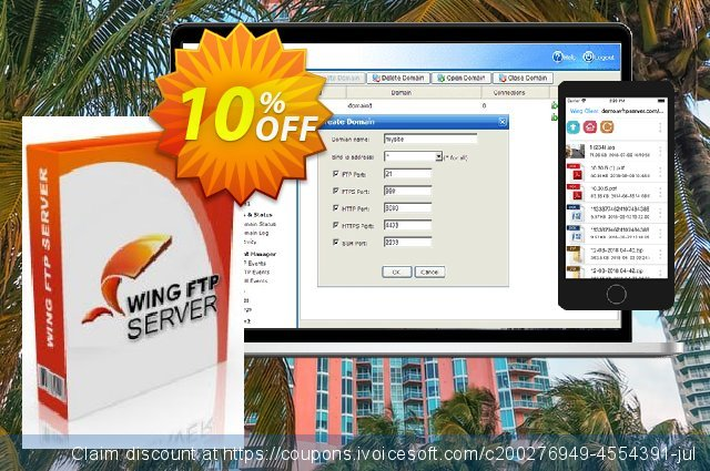 Wing FTP Server - Secure Edition for Mac discount 10% OFF, 2021 Happy New Year offering sales