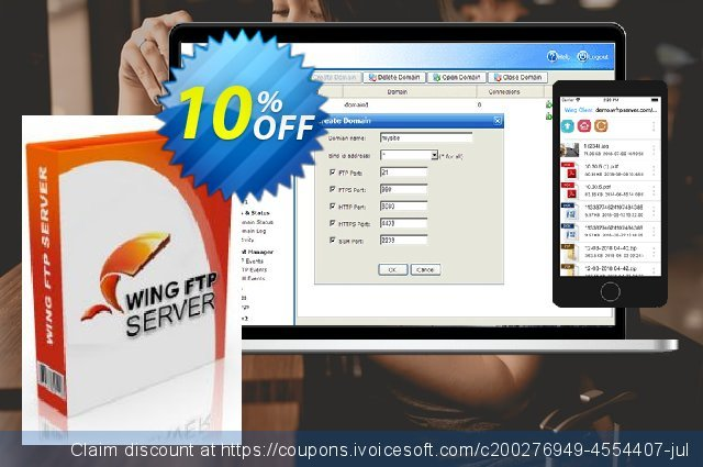 Wing FTP Server - Secure Edition for Linux Site License  대단하   할인  스크린 샷
