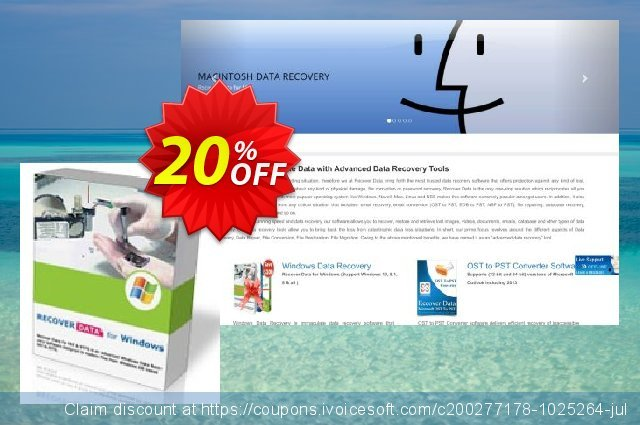 Recover Data for FAT & NTFS - Personal License 惊人的 促销 软件截图