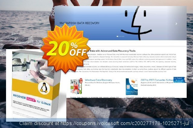 Recover Data for Linux (Linux OS) - Technician License 令人难以置信的 产品交易 软件截图