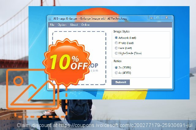 AI Image Enlarger Half-Yearly discount 10% OFF, 2021 Oceans Month offer. AI Image Enlarger Half-Yearly Hottest promotions code 2021