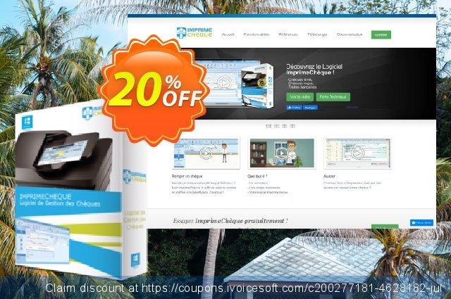 Get 20% OFF Logiciel ImprimeChèque promo