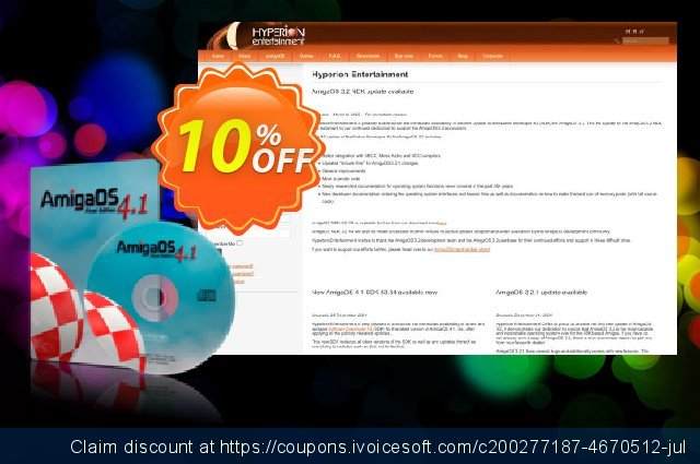 AmigaOS 4.1 Final Edition for Classic (Download) discount 10% OFF, 2021 New Year deals