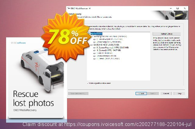 O&O MediaRecovery (5 PCs) discount 50% OFF, 2020 New Year's Day offering deals