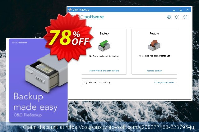 O&O FileBackup (for 5 PCs) discount 70% OFF, 2021 Mother's Day offering sales. 50% OFF O&O FileBackup (5 PCs), verified