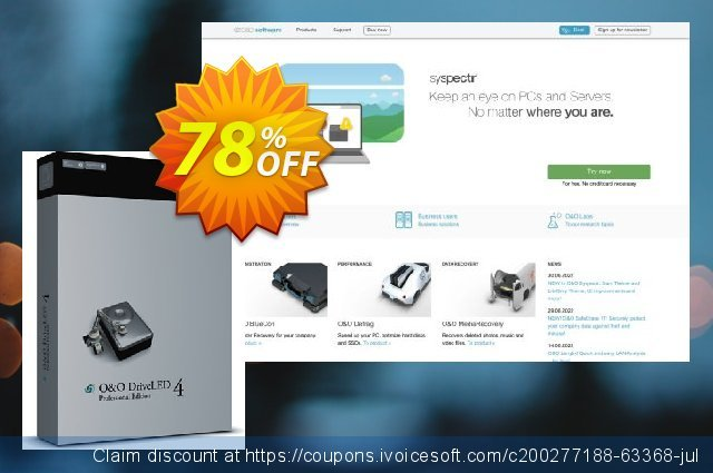 O&O DriveLED 4 discount 70% OFF, 2021 Mother Day offering discount. 50% OFF O&O DriveLED 4, verified