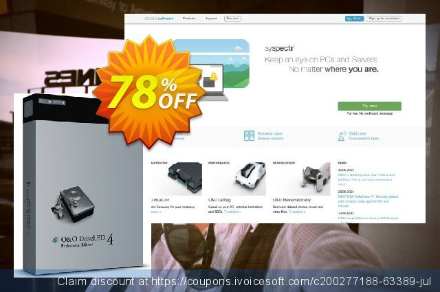 O&O DriveLED 4 Workstation Edition discount 70% OFF, 2021 Mother's Day offering deals. 50% OFF O&O DriveLED 4 Workstation Edition, verified