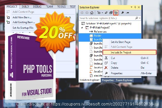 PHP Tools for Visual Studio (Individual/Personal) discount 10% OFF, 2021 New Year's Weekend offering sales