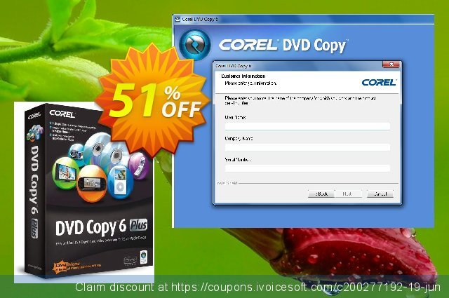 Corel DVD Copy 6 Plus discount 51% OFF, 2020 Black Friday offering sales