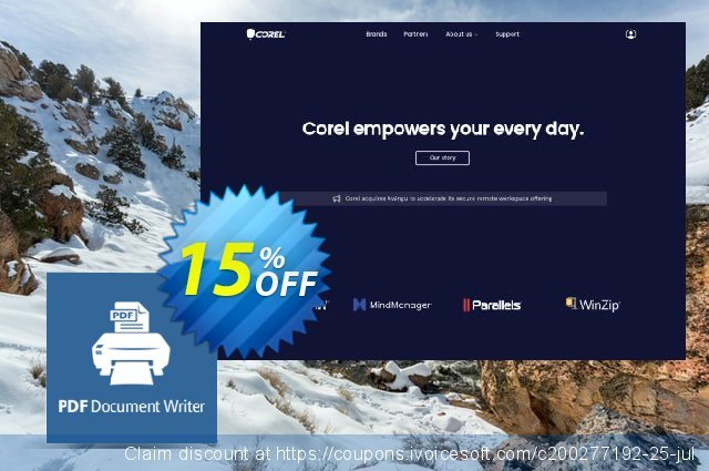 Corel PDF Document Writer discount 15% OFF, 2020 Christmas Day deals